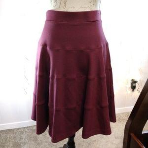 Land's End Burgundy Circle Skirt